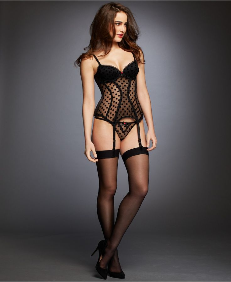 L'Agent by Agent Provocateur Rosalyn Basque Bustier L003-25 - Bras, Panties & Shapewear - Women - Macy's