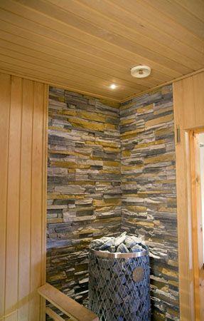 Viihtyisä saunaosasto