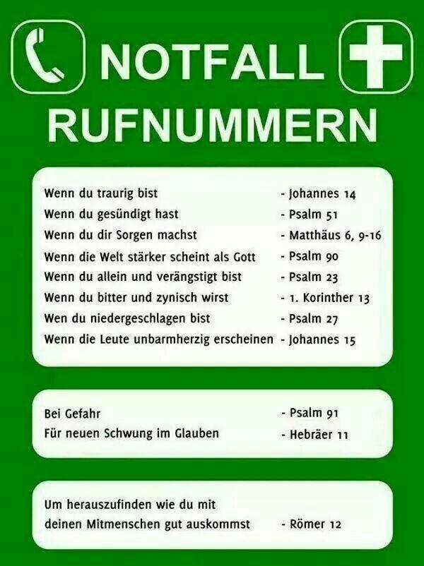 Notfallbibelstellen ;)