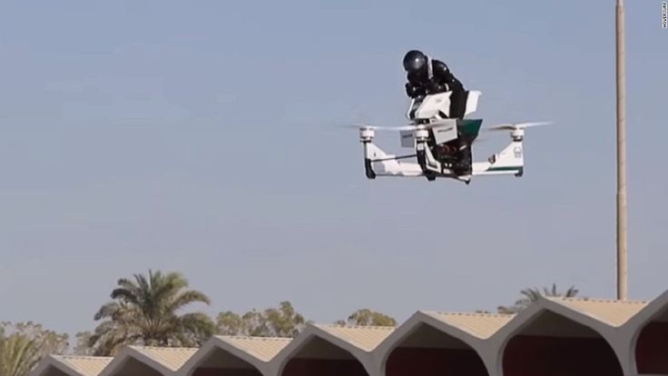 Dubai Police, who already have Lamborghini patrol cars, self-driving robots and android officers, have decided to take to the skies in what can only be described as a flying motorbike.