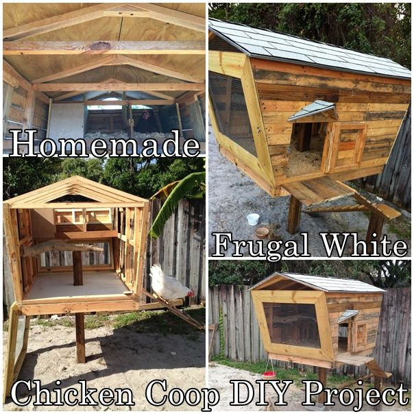Homemade Frugal White Chicken Coop DIY Project Homesteading  - The Homestead Survival .Com