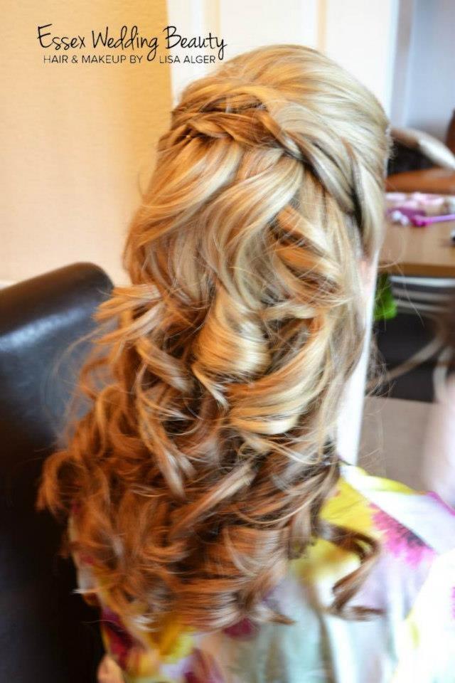 Wedding hair - bride half up by Lisa Alger www.essexweddingbeauty.co.uk