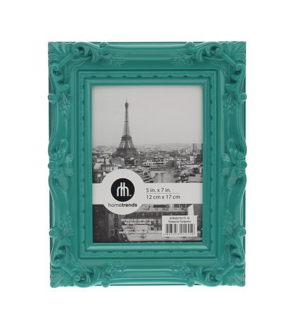 5x7 gloss turquoise baroque photo frame available from for Baroque mirror canada