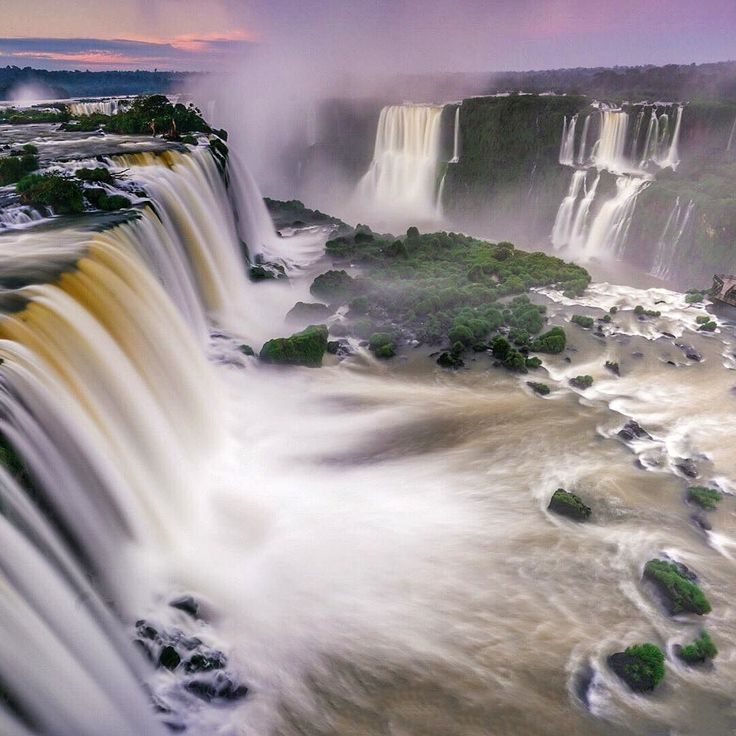 Sunrise at Iguazu Falls in Brazil.  We were up early this morning to catch sunrise here in Iguazu National Park. The only way you are able to do this is if you stay at the Belmond Hotel which is the only hotel within the park.  Not only do you get a people free experience but you feel like you have the whole park to yourself. It is an amazing experience. #lovebrazil #visitbrasil by theplanetd