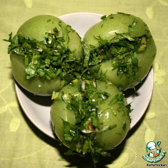 """Зеленые помидоры """"По-грузински"""" ингредиенты"""