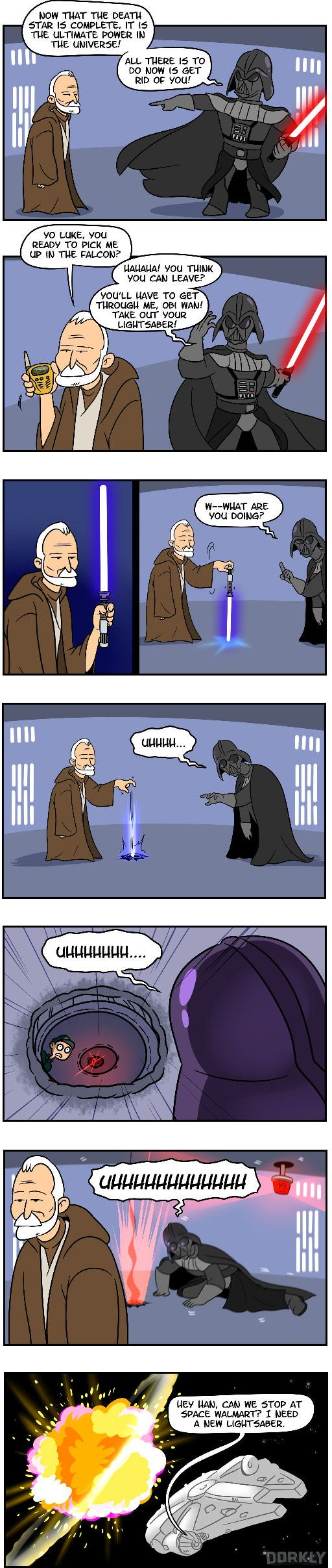 So tired of your crap, Anakin. Star Wars: How it should have ended (Not actual HISHE)