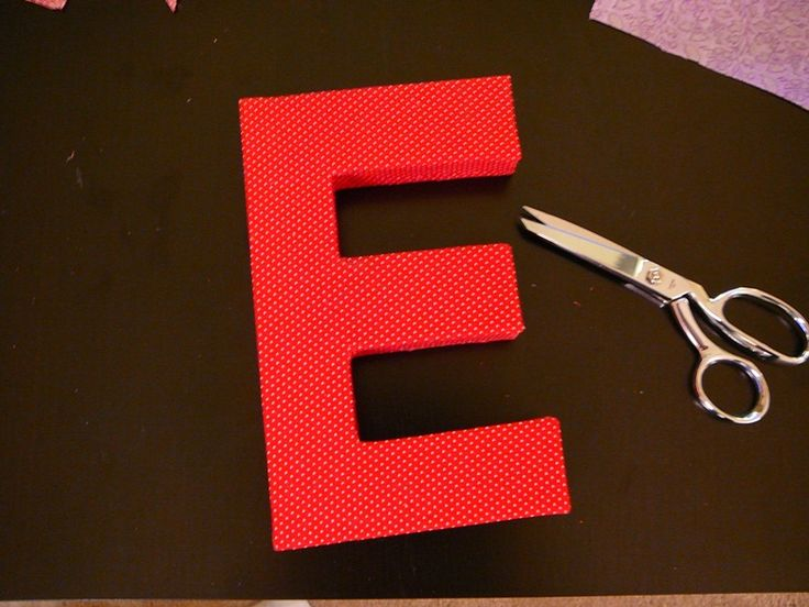 covering cardboard letters with fabric Fabric covered cardboard projects: fabric and cardboard wall letters diy - where was this when i was fixing up the babys nursery find this pin and more on diy home.