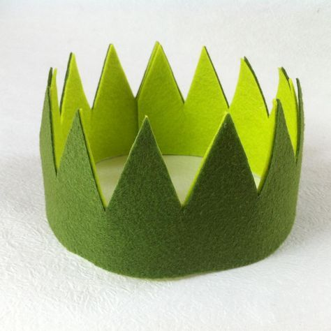 A birthday crown is a must have for every boyand girlon their special day. You won't believe how easy it is to make this crown.    Materials   felt scissors glue     Select felt in the partytheme color or their favorite colors, and make this super easy crown for their birthday party. No sewing is needed.  If you're having a magical-themed birthday party, give these crowns out as party favors and transform every boy an girl into prince and princess.