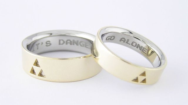 tri-force wedding rings!