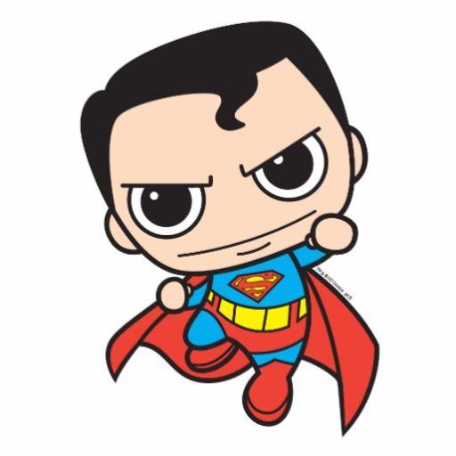 Chibi Superman Flying Standing Photo Sculpture