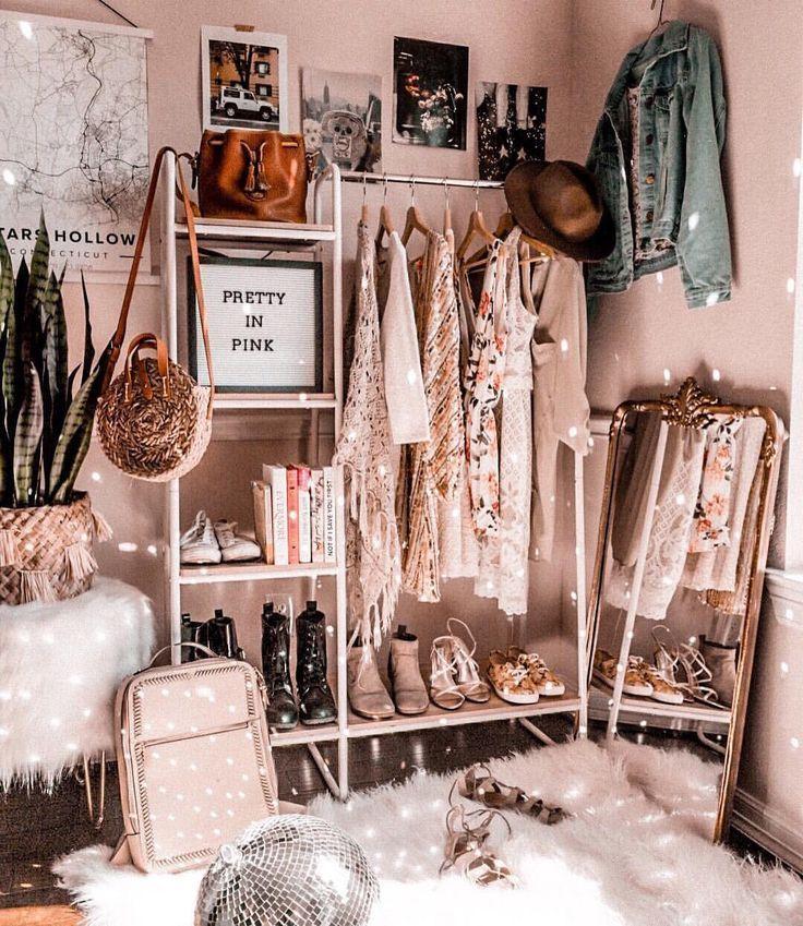 Dreamy closet vibes (As Told By Michelle) #clothesrack #clothingrack #closet
