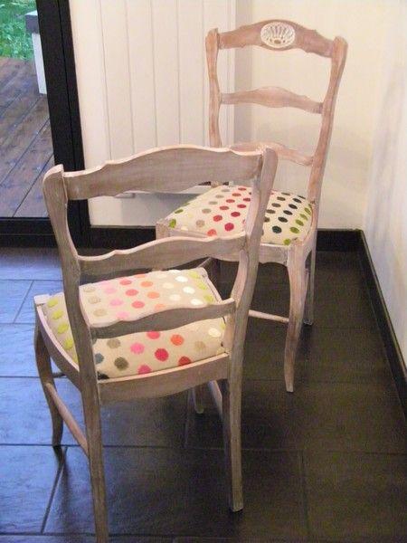 apres céruse chaise modernisée