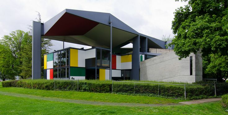 Ле Корбюзье / Le Corbusier. Выставочный павильон ZHLC (Центр Ле Корбюзье: Centre Le Corbusier, Heidi Weber Museum, Maison de l'Homme), Цюрих, Швейцария. 1963-1967