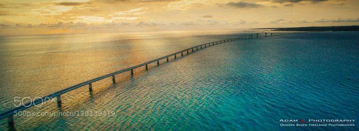 Irabu Bridge is a 3.5km long toll free bridge between Miyako and Irabu islands. It is the longest toll free bridge in Japan