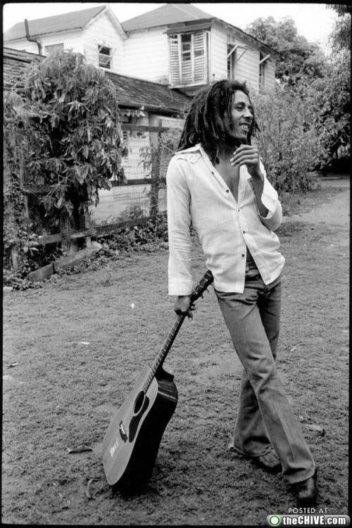 Bob Marley. Yes, I've been here!  7 Mile Island, I think it what's it's called. The Bob Marley 'plantation' in Jamacia