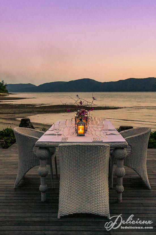 Dinner under the stars Paradise Bay Resort Whitsundays   via ledelicieux.com