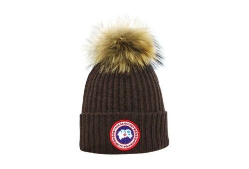 Canada goose Winter Outdoor Sports Warm Knit Beanie Cap Pom Pom