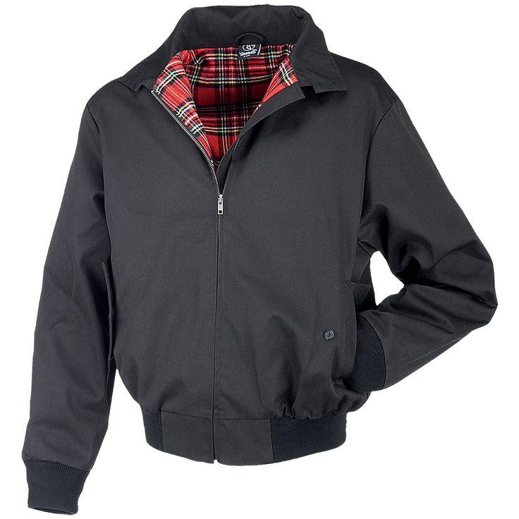 Harrington Jacke English Style schwarz, S