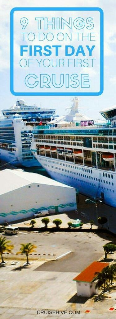 List for the first day of your cruise. Caribbean cruise tips.