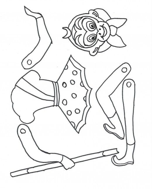 Printable template for a Monkey King puppet on this site. Kids can color, cut and assemble -- use brads to make the joints movable Year of the Monkey: Chinese New Year crafts Site with lots of crafts for kids. Children craft activities