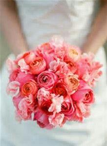 Pink&Coral wedding bouquet