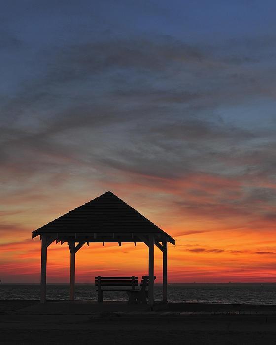Gazebo at Sunset Seaside Park, NJ - Terry DeLuco
