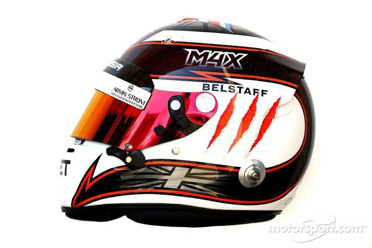 The helmet of Max Chilton, Marussia F1 Team