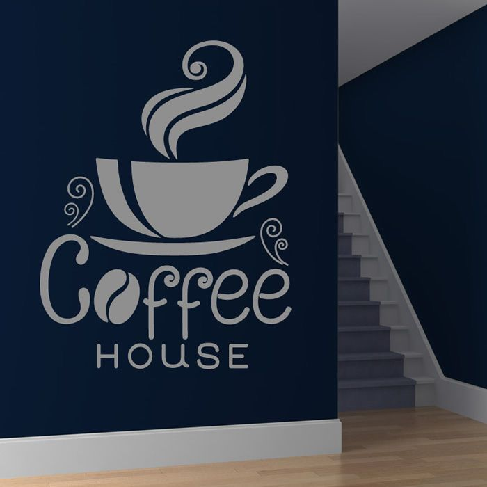 Coffee house cup wall sticker coffee wall decal art
