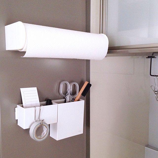 キッチンペーパーの便利な置き方は 収納アイデア実例集 収納 アイデア インテリア 収納