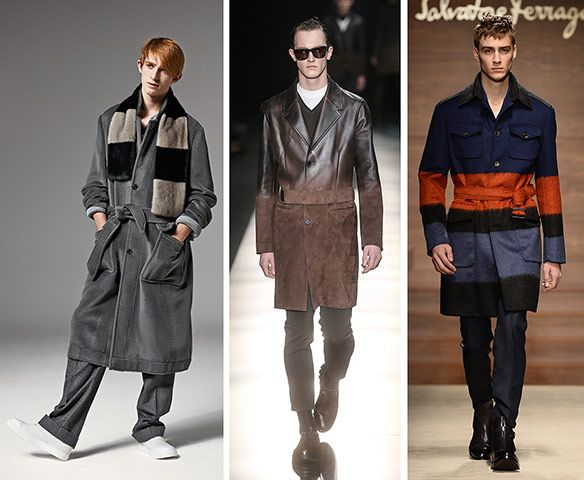 Left-right: Emporio Armani, Dolce  Gabbana, Marni  Strokable teddy-bear coats, furry shearling, mohair and deliberately pilled sweaters were the week's most tactile trends. The best examples were seen at Dolce  Gabbana, who made over-sized coats fit for a king, while at Fendi even the catwalk was carpeted in furry fabric