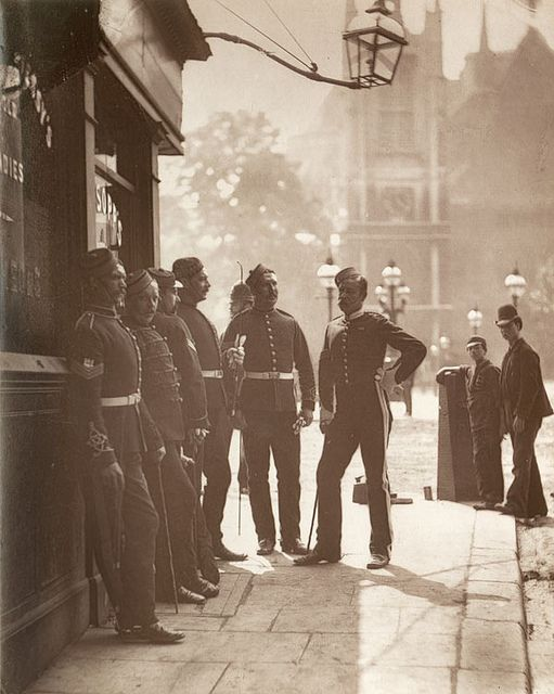 Recruiting Sergeants 1876. They hung out at the pub to lure young men into service to England's colonialism. | Flickr - Photo Sharing!