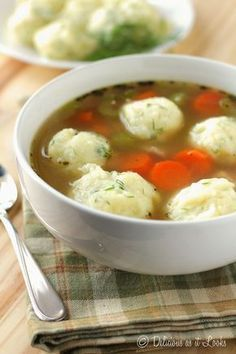 Potato Dumplings for Soup {Low-FODMAP, Gluten-Free} / Delicious as it Looks