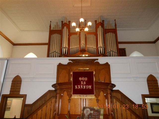 The Norman & Beard organ in the DR Church was installed in 1913 and the inaugural recital was given by Prof PK de Villiers on 2 May 1914 NG CHURCH BOSHOF FREESTATE