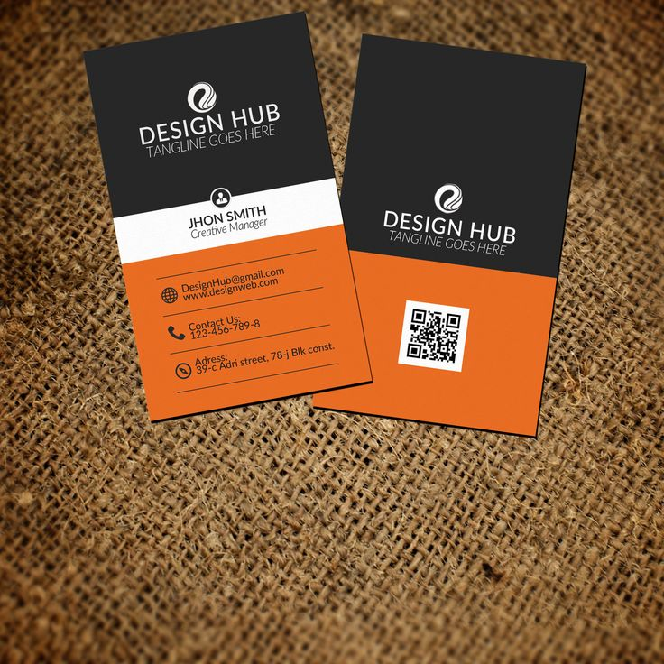 corporate vertical business card by Leza on Creative Market