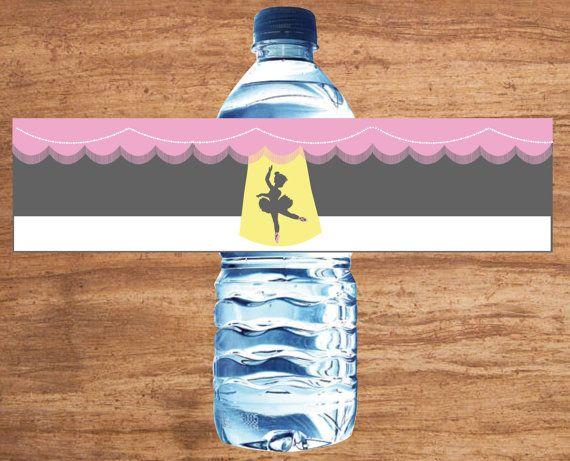 Instant Download Ballerina Ballet Party water bottle labels for sale on Etsy.