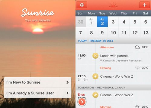 Organize Your Social Media Events With Sunrise Calendar App