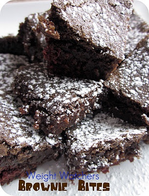 Love this recipe!  Weight Watchers Brownie Bites!