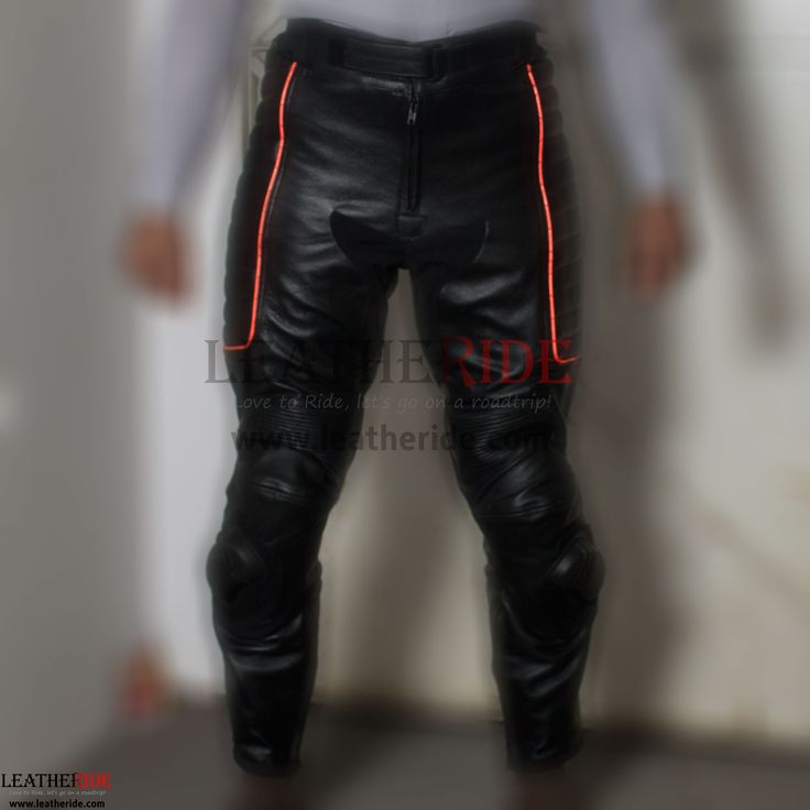 X-MEN Motorbike Leather Pants X-Men pants are made up of 1.2-1.3 mm thick drum dyed top-grain cowhide leather for excellent abrasion resistance.   http://leatheride.com/x-men-motorbike-leather-pants/  #LeatherPants, #Motorbike, #XMEN #MotorcyclePants