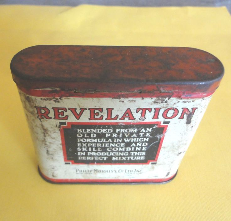 Tobacco Tin, Revelation PipeTobacco Tin  VIintage Made By Philip Morris,  USA