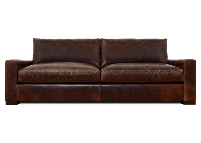 Grant Xl Leather Sofa Thrive Furniture Love The Worn Look And Deep Seats Very Similar To Restoration Hardware But It S A Grand
