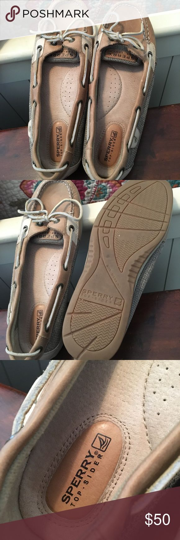 Women's Size 10 Sperry Top-Siders These boat shoes are in good condition. They have slight wear on them. Sperry Top-Sider Shoes Athletic Shoes