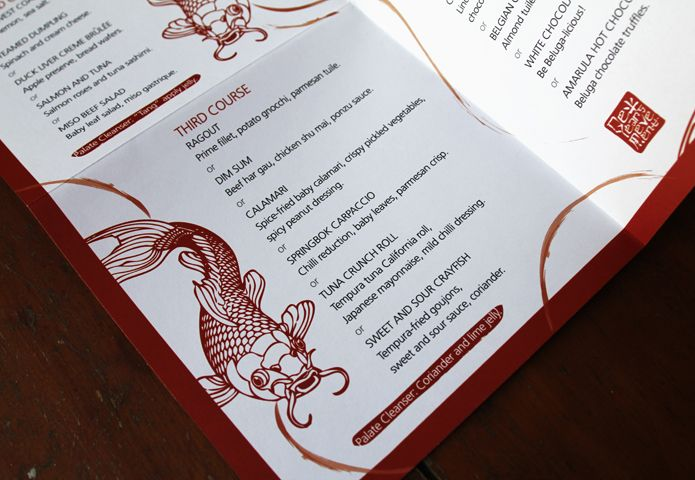 Beluga Menu | Graphic Design, Branding and Websites in South Africa | Malossol