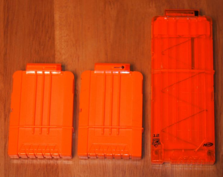 Lot Of 3 Nerf Dart Magazines Two 6 Dart Mags And One 12