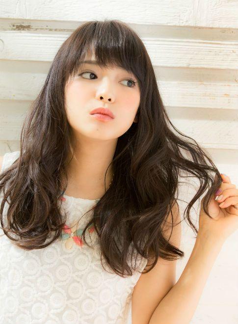 ラフで無造作 ゆるウェーブ 短め前髪 【drive for garden】 http://beautynavi.woman.excite.co.jp/salon/21107?pint ≪ #longhair #longstyle #longhairstyle #hairstyle ・ロング・ヘアスタイル・髪型・髪形≫
