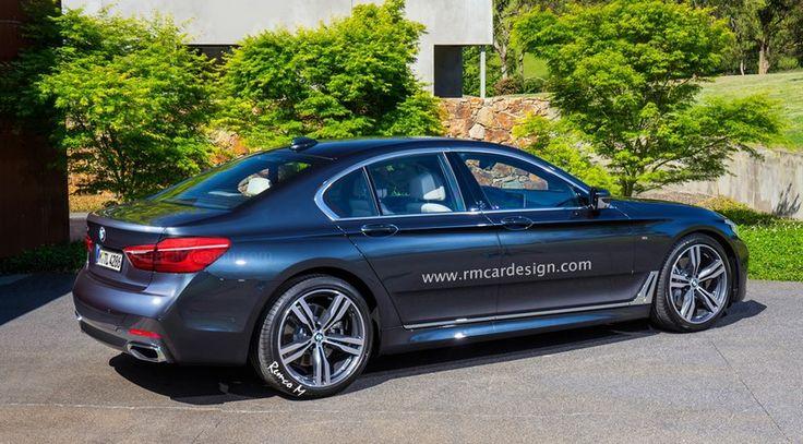 BMW Serie 5 2017, primeras recreaciones basadas en el Serie 7