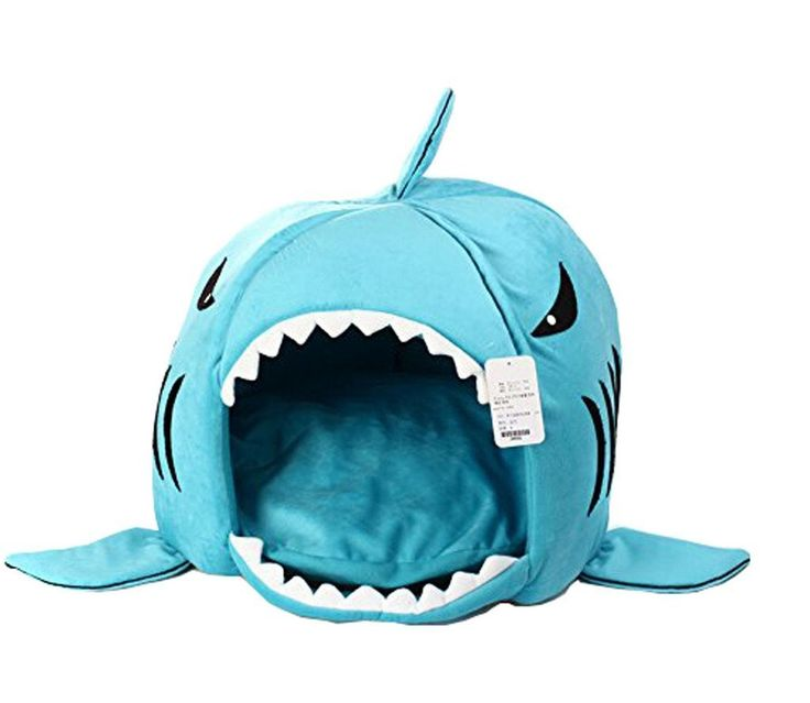 Cute All Season Soft Warm Foldable Washable Two-way Non-skip Shark Shape Pet House Pet Bed Kennel With Removeable Cushion Pad For Your Beloved Pet Dog Puppy Cat Kitty Kitten Gift >>> Click image for more details. (This is an affiliate link and I receive a commission for the sales)