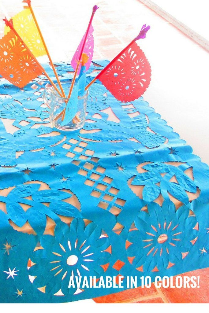 Mexican Party Decorations, Papel Picado Birthday, Cinco de Mayo decorations, Paper picado, Paper table runners