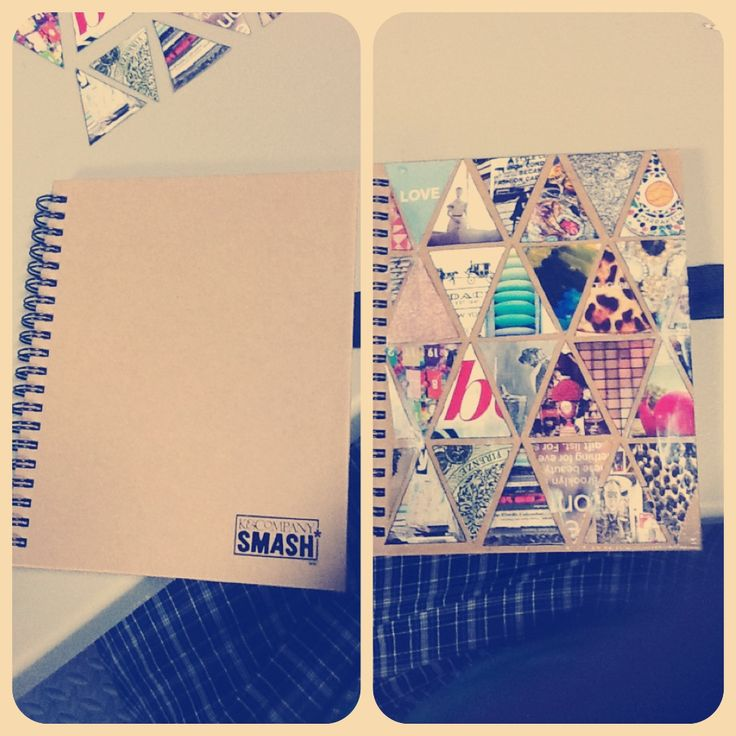 Smash book + triangles = i had to make my own version in mine
