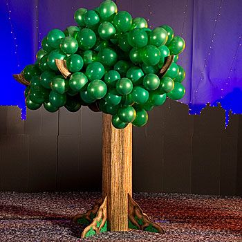 Our 10 Ft Balloon Tree features a realistic looking trunk with balloons accenting as leaves.