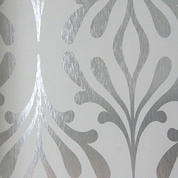 Papiers peints Stardust - ND7016 à vendre en ligne (Gris et Argent)